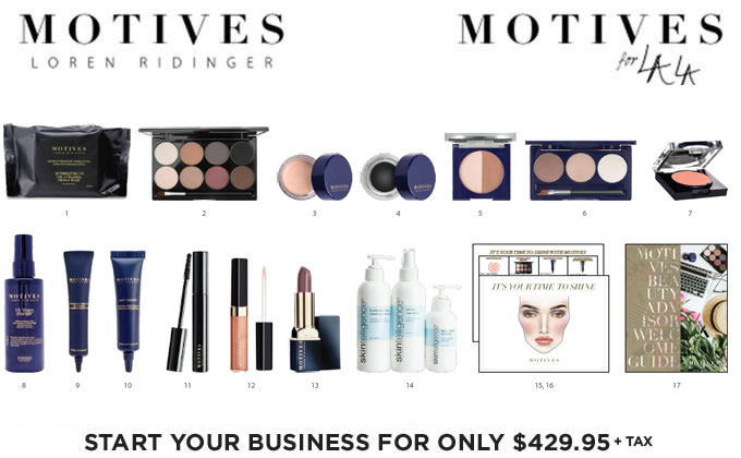 The Motives Cosmeitcs and Motives for La La Fast Start Kits